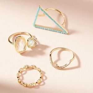 LOWEST Anthro 4 Stackable Rings